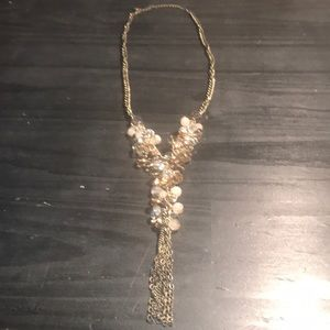 Ann Taylor Loft sparkle goldtone necklace